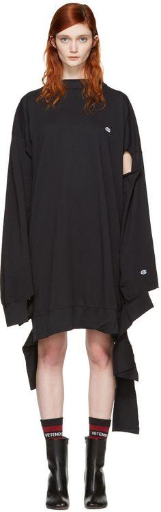 VETEMENTS Black Champion Edition In Progress Dress. #vetements #cloth #dress