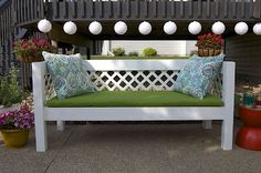 DIY bench : cute video tutorial