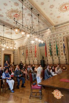 La sala degli stemmi in the Cityhall of Legnano... the fairytale starts in an historical enchanted place