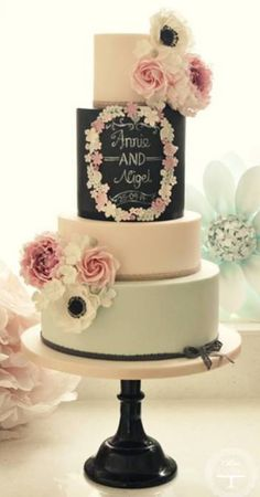 navy wedding inspiration cake 2015 trend colours and style