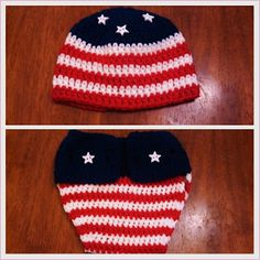 Butterfly's Creations: 4th of July Beanies. FREE pattern for all sizes!