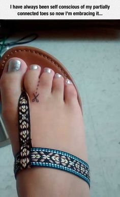 """The most clever toe tattoo out there: 