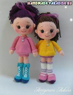 Amigurumi Candy Doll - Free Russian Pattern here: http://handmade-paradise.ru/amigurumi-kukolka-candy-doll-kryuchkom/