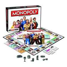 The physics may be theoretical, but the fun is real. Cruise the streets of Pasadena in MONOPOLY: THE BIG BANG THEORY. Choose one of seven collectible tokens, including Sheldon's spot and Leonard's gla