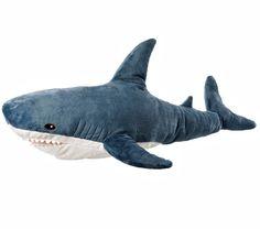 "IKEA Big Jumbo BLÅHAJ Friendly Shark Stuffed Animal 40"" Blahaj Plush Soft Toy #IKEA"