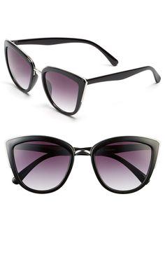 777c6bc24f3aa 55mm Metal Rim Cat Eye Sunglasses Cute Sunglasses