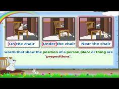Learn Grade 1 - English Grammar - Prepositions Part 01 - YouTube