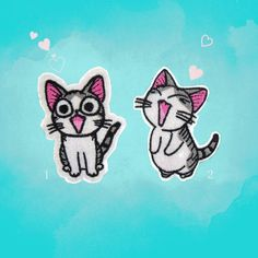 Cute patch Lovely Pet Chi Cat patch Cartoon patches iron on patches Sew on patches