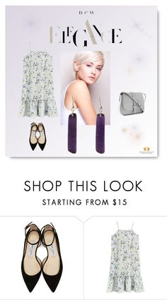 """""""Purple Elegance"""" by amano-artisans ❤ liked on Polyvore featuring Jimmy Choo and Gap"""