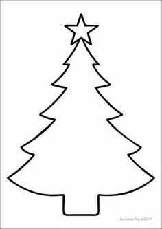 FREE Christmas Tree Template By Lea