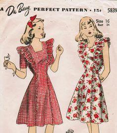 40s dress pattern
