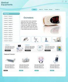 Internal Page Design of Medical Equipment Website