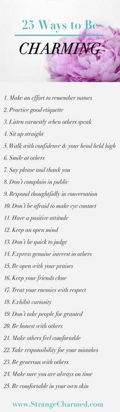 25 Ways to be Charmi