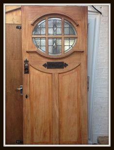 Front Door Idea, to make it a bit more rundown-looking. Porch Doors, Entrance Doors, Windows And Doors, Doorway, House Front Door, House Doors, Oak Front Door, 1930s Doors, Traditional Front Doors
