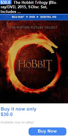 cds dvds vhs: The Hobbit Trilogy (Blu-Ray/Dvd, 2015, 9-Disc Set, Includes Digital Copy Ultravi BUY IT NOW ONLY: $30.0