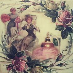 Vintage lady # love # decoupage 🌻🌻🌻