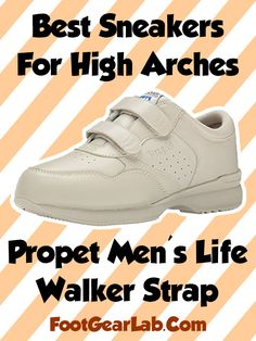 Propet Men's Life Walker Strap - Best Sneakers For High Arches Men - @footgearlab