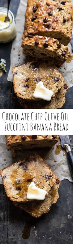 Chocolate Chip Olive Oil Zucchini Banana Bread