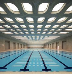 Aquatic center londinense Bye zaha architect, interior, swimming pools, pattern, science centers, hous, zaha hadid, design, swimmer