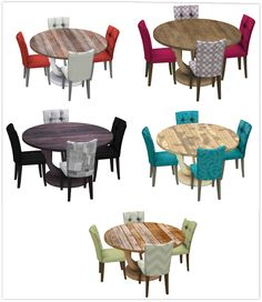 Sims 4 CC's - The Best: Round Table Dining by 13 Pumpkin's Simblr