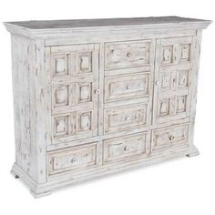 Show details for Isabella White 6-Drawer Door Dresser