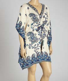 Take a look at this Blue Dolman Tunic - Plus by Life and Style Fashions on #zulily today!