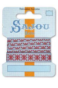 Ruban Sajou Collection Comptoir motif 6 carte un mètre