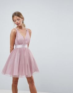 Buy ASOS DESIGN Premium tulle mini prom dress with ribbon ties at ASOS. With free delivery and return options (Ts&Cs apply), online shopping has never been so easy. Get the latest trends with ASOS now. Mini Prom Dresses, Tulle Prom Dress, Pink Dress, Short Dresses, Summer Dresses, Formal Dresses, Look 2018, Cocktail Dress Prom, Special Dresses