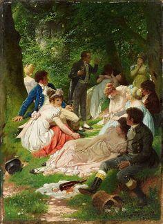 Eugen Klimsch Das Picknick 1894.jpg
