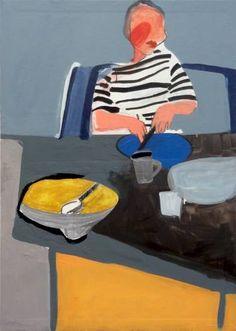 "Saatchi Art Artist Agata Żychlińska; Painting, ""breakfast"" #art"