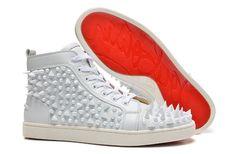 Christian Louboutin Louis Pik Pik High Sneakers White