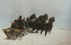 Józef Chełmoński - Czwórka w zaspach, 1885 r.