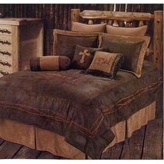 Western Rustic Country Praying Cowboy Comforter Cross Bedding Set 5pc Queen *** Want additional info? Click on the image.