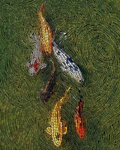 Koi Mosaic (Digital Art) by Robotlick on deviantART