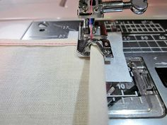 Starting the hem from a corner- It can be challenging to get the fabric sewn evenly from the edge. You can try one of two methods-  Tearaway stabilizer