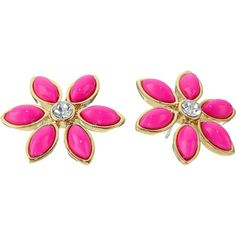 Kate Spade New York Eyelet Garden Studs Earrings Earring, Pink ($30) ❤ liked on Polyvore featuring jewelry, earrings, pink, cabochon jewelry, stud earrings, sparkle jewelry, kate spade jewelry and post earrings