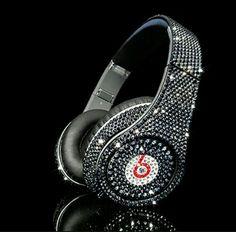 Swarovski crystal headphones