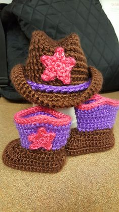 94dae48811219 Cowboy Hat and Boots Set pattern by Elizabeth Alan