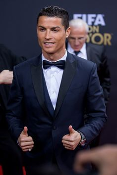 Cristiano Ronaldo Photos - FIFA Ballon d'Or nominee Cristiano Ronaldo of Portugal and Real Madrid poses for a photograph prior to the FIFA Ballon d'Or Gala 2014 at the Kongresshaus on January 2015 in Zurich, Switzerland. Cristiano Ronaldo Video, Ronaldo Videos, Cristiano Ronaldo Manchester, Ronaldo Photos, Cristano Ronaldo, Barcelona Soccer, Fc Barcelona, Navy Tux, Alex Morgan Soccer