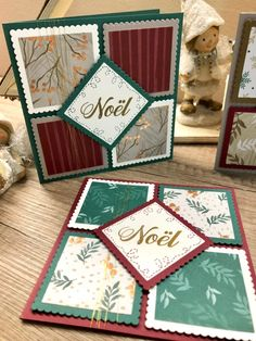 Next Scrapbook Gift Stamped Christmas Cards, Christmas Cards To Make, Xmas Cards, Christmas Crafts, Homemade Stamps, Homemade Cards, Paper Piecing, Craft Projects For Adults, Making Greeting Cards