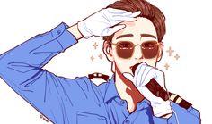 Park So Dam, Exo Anime, Exo Fan Art, Xiuchen, Suho Exo, Kpop Fanart, Chibi, Art Drawings, Illustration