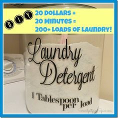 Best Laundry Detergent Recipe « $20 = a year of laundry! My clothes have never smelled so fresh! Anyone can make this-- it's super easy!