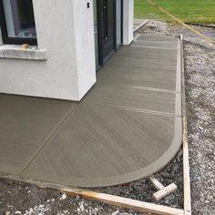 Concrete Patio Designs, Concrete Driveways, Backyard Patio, Backyard Landscaping, Driveway Design, House Extension Design, Projects, Architecture Sketches, House Entrance