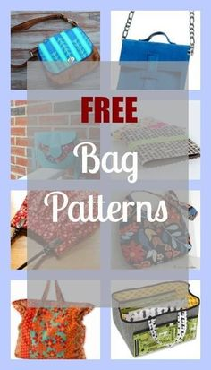 All the Free Bag Patterns published in the blog.