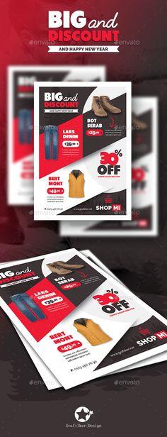 Shopping Flyer Template PSD #design Download: http://graphicriver.net/item/shopping-flyer-templates/13559983?ref=ksioks