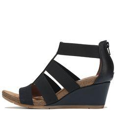 07034f1e41ef Eurosoft Women s Verona Wedge Sandals (Black) Wedge Sandals Outfit