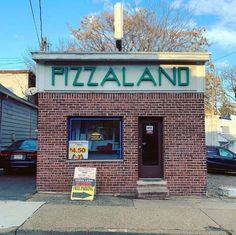 Pizzaland, North Arlington, NJ immortalized by the Sopranos North Arlington, New Jersey, Outdoor Decor, Vintage, Home, Ad Home, Vintage Comics, Homes, Haus