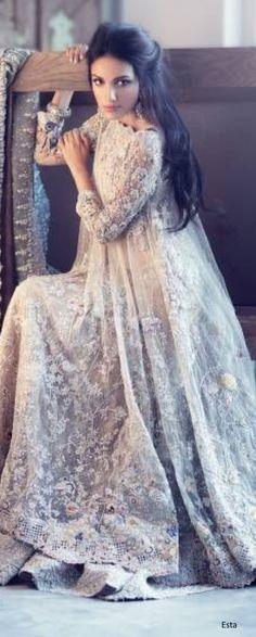 "shaadifashion: "" Elan 'Garden of Evening Mists' Bridal Collection """