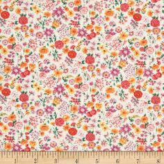Timeless Treasures Chloe Mixed Small Floral Cream