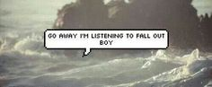 My reaction picture when people try talking to me. Fall Out Boy